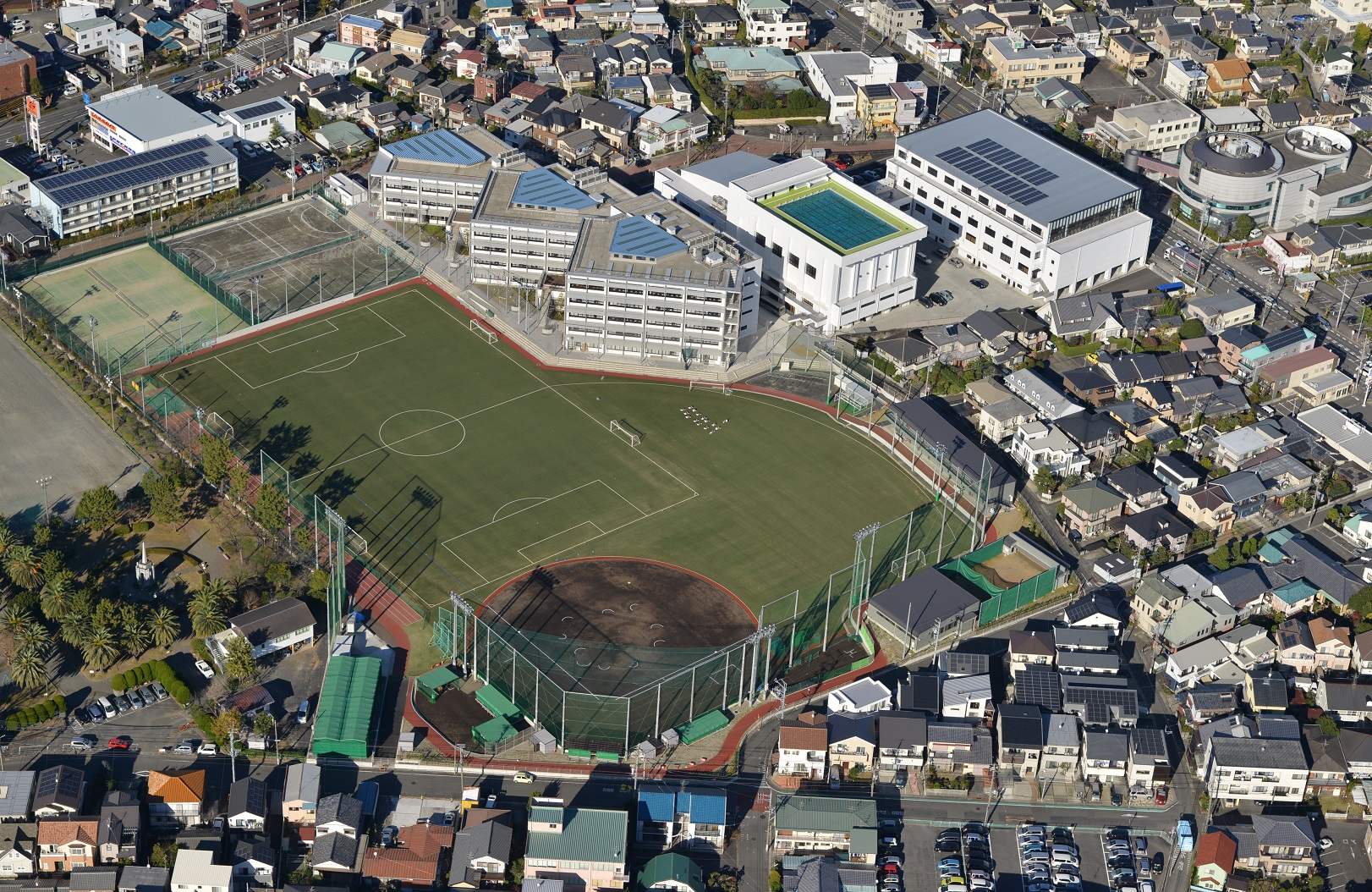 H26 清水桜が丘高等学校グラウンド人工芝舗装工事
