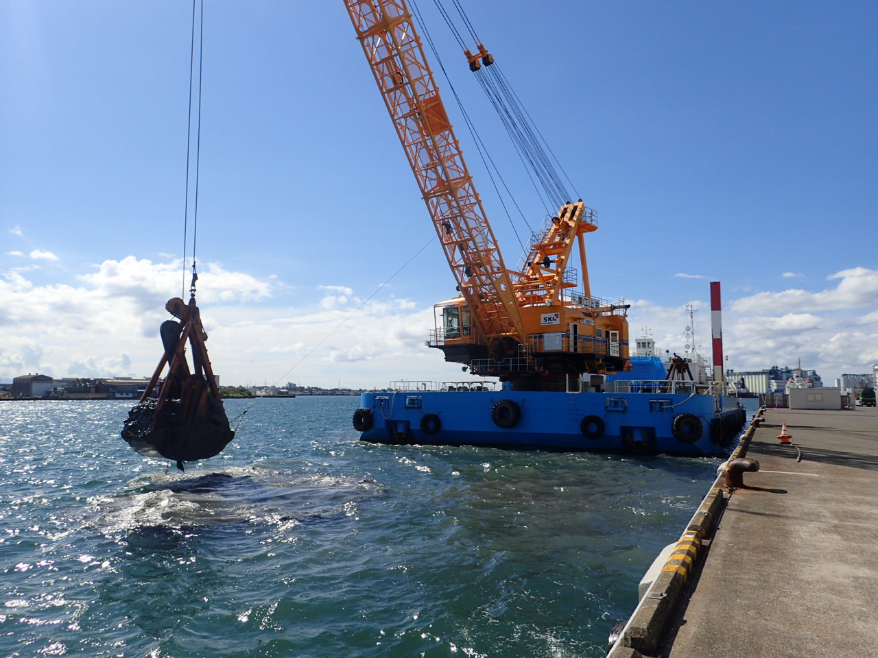 H30清水港日の出岸壁(-12m)基礎工事/被覆工事
