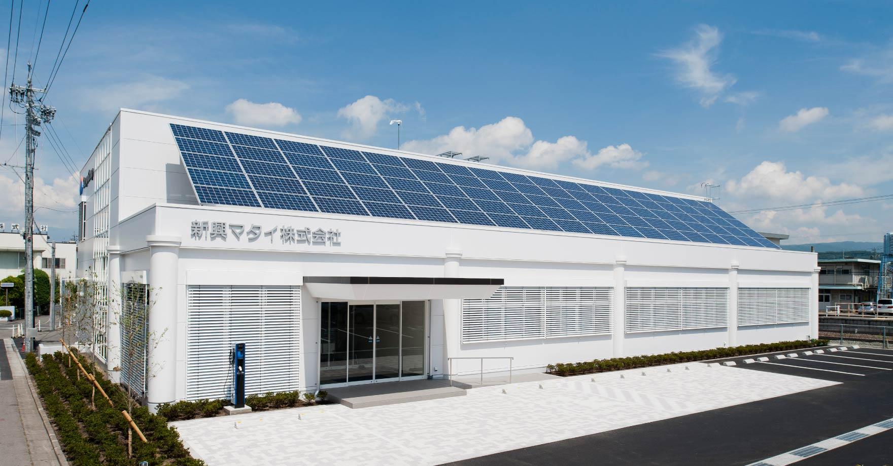 太陽光発電システム〔1Fベランダ〕