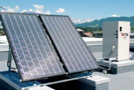 太陽熱温水器〔屋上〕